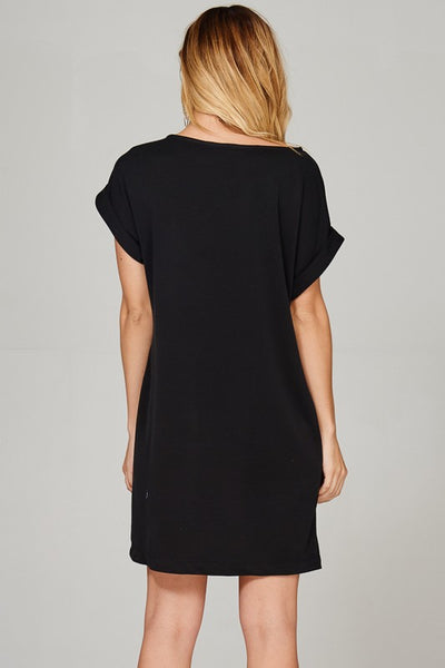 Come Closer Relaxed Fit T-Shirt Dress- 2 Colors!