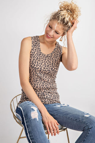 Essential Babe Leopard Ribbed Tank