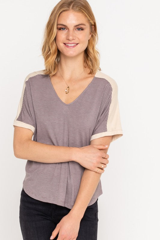 Mauve Two Toned Tee