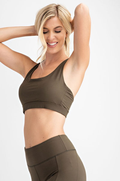 Work It Out Babe Mesh Back Sports Bra- 2 Colors!