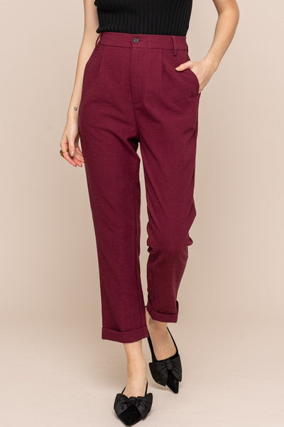 The Rene Relaxed Fit Trouser in Wine