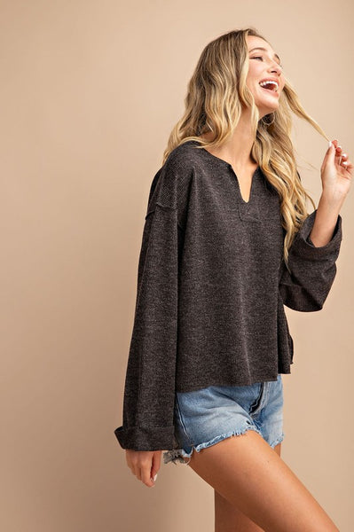 Essential Babe Slouchy Pullover- 2 Colors!