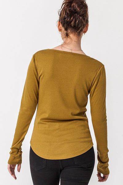 Essential Babe Button Long Sleeve Tee
