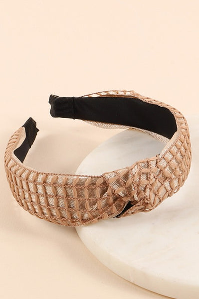 Metallic Basketweave Headband
