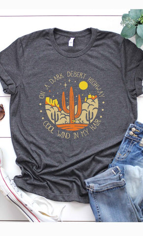 RESTOCKED!!! Dark Desert Highway Graphic Tee