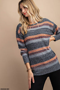 Make Today Great Mixed Striped Sweater Top