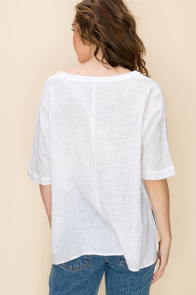 May Lush Bundle!! Classy, Cool Summer Poncho & Tee- 3 Colors!