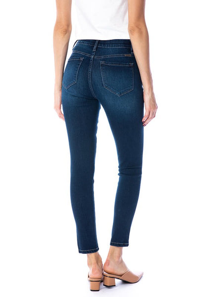 RESTOCKED!!! GIve Me Grace Dark Wash Elastic Waist Ankle Skinny