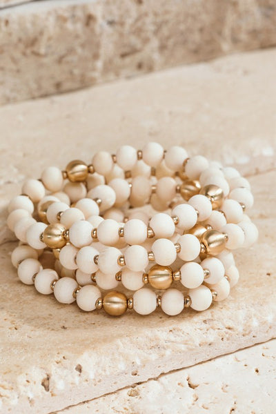 Sage You Later Wood Bead Bracelet Set-2 Colors!