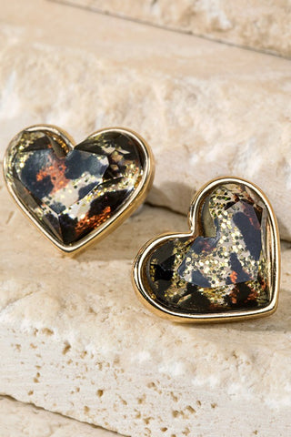 Forbidden Love Heart Shaped Earrings