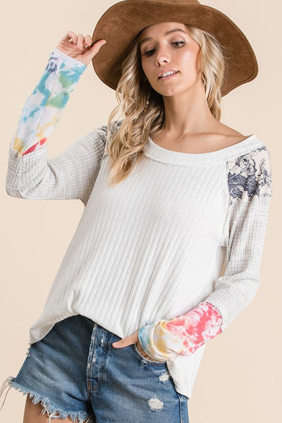 Smooth Sailing Tie Dye Sleeve Top