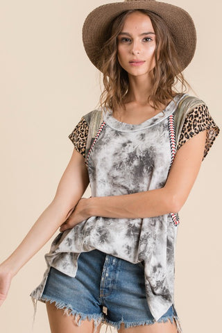 PRE-ORDER!!The Maggie Top-Charcoal