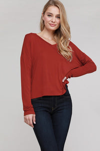 Keep It Simple V Neck Pullover Top- 3 Colors!