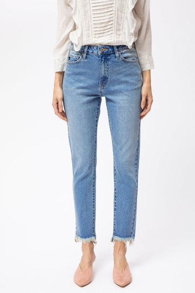 The Bradshaw High Rise Straight Leg Jean