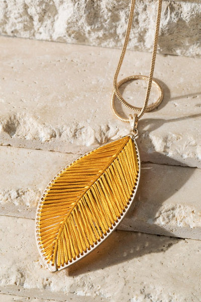Hand Woven Leaf Necklace