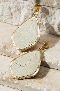 Swirled Cork Earrings in Ivory