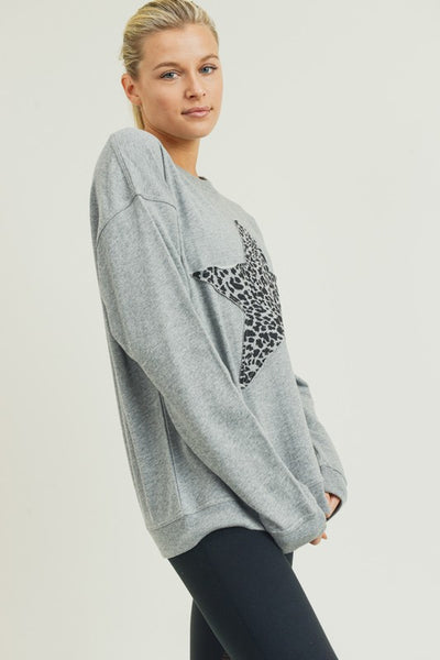 RESTOCKED!! Cheetah Star Terry Sweatshirt