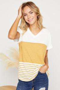 The Perfect Color Block Tee- 3 Colors!
