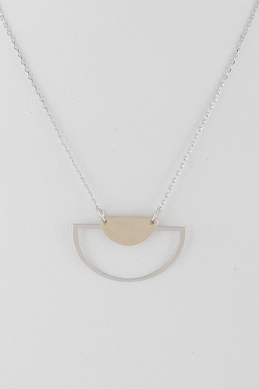 Mixed Feelings Open Cut Half Moon Necklace