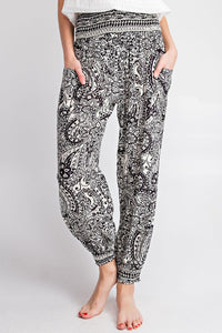 The Purdah Paisley Black Harem Pant