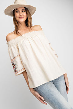 The Amber Off the Shoulder Bell Sleeve Top