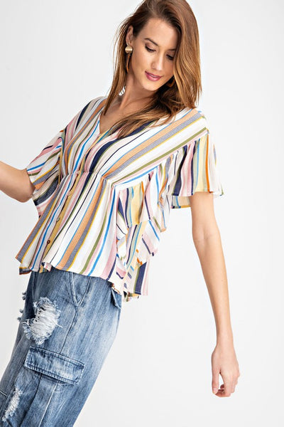 Fly Away with me Striped Top