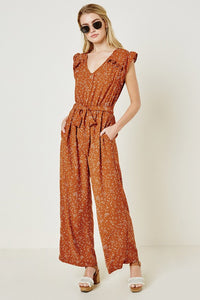 Better in Polka Dot Rust Jumpsuit