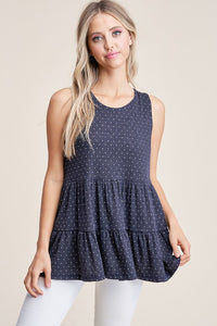Star Bright Tiered Sleeveless Top