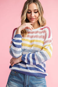 Adore You Striped Pull Over Sweater