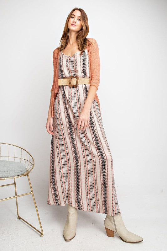 The Theresa Tribal Print Maxi Dress