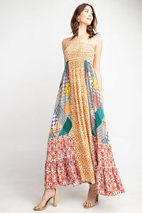 The Laura Patchwork Swing Maxi Dress