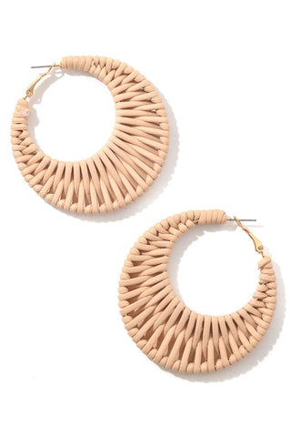 Boho Braided Hoop Earrings