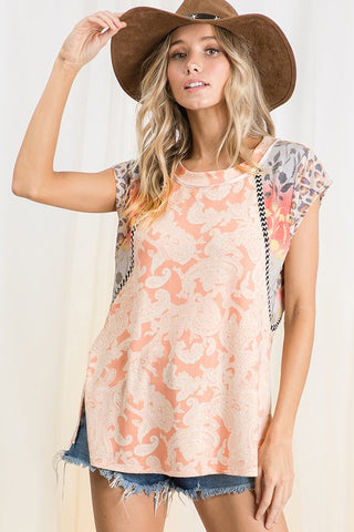 PRE-ORDER!!The Maggie Top-Coral