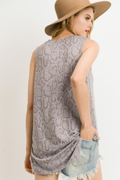 RESTOCKED!! Shaded Desert Snakeskin Tunic Tank Top