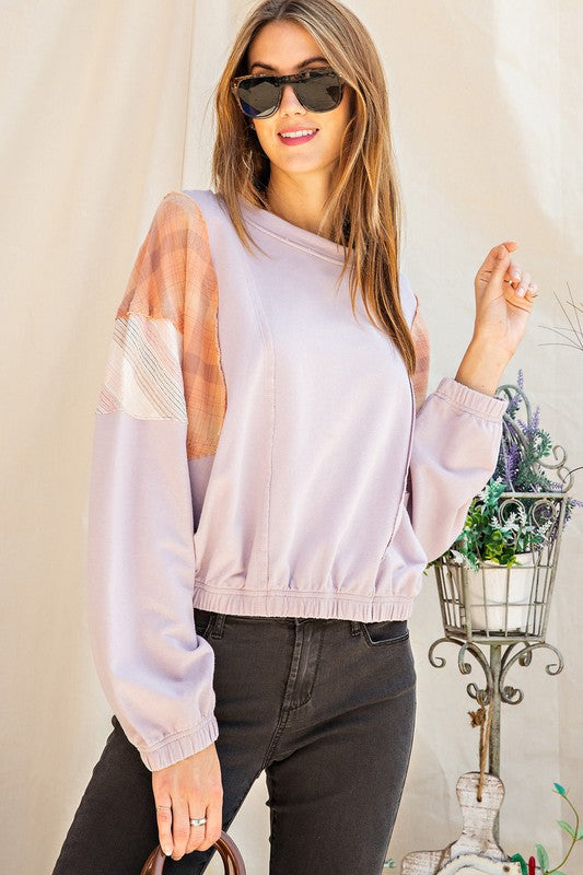 Cali Patchwork Long Sleeve Top