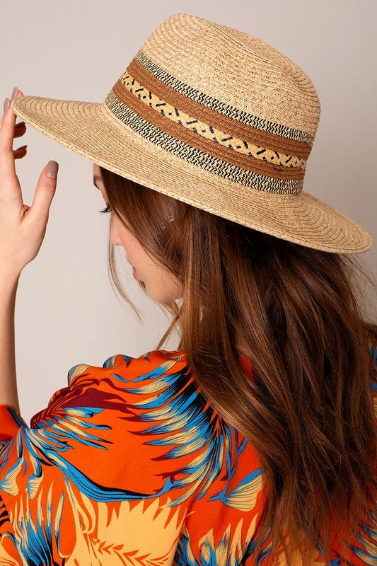 Vacay Mode On Straw Panama Hat
