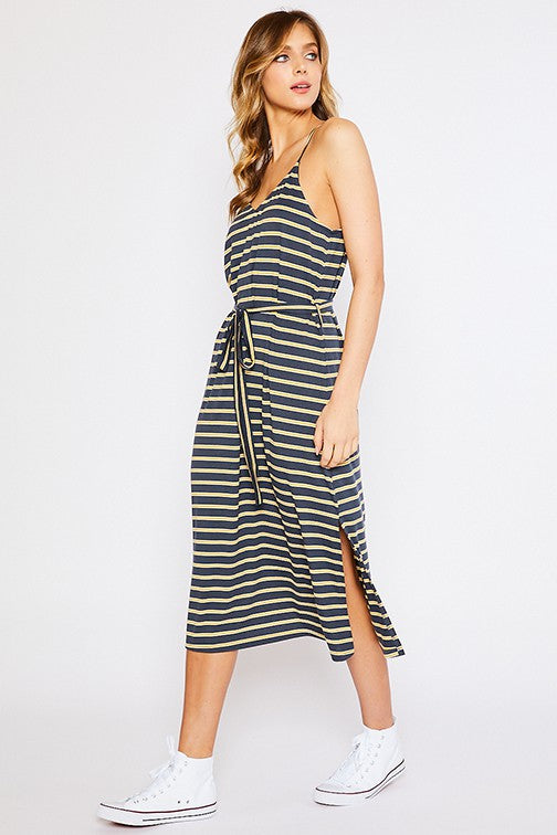 In the Morning Striped Tank Dress