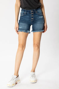 The Cynthia Mid Rise Button Up Shorts