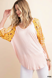 Pinks and Patterns Knit Top
