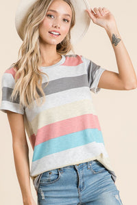 Summer Stripes French Terry Tee
