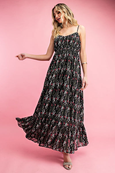 The Hailey Printed Frock Maxi Dress