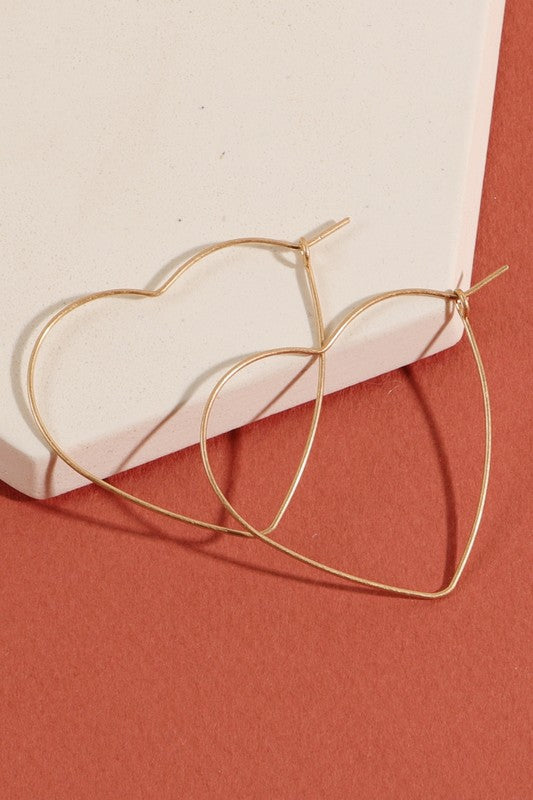 Stole my Heart Twice Wire Earrings-Set of 2!