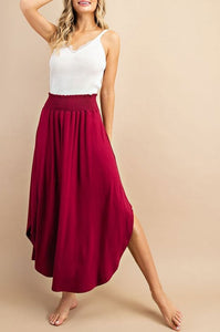 Will Work for Wine Smocked Maxi Skirt