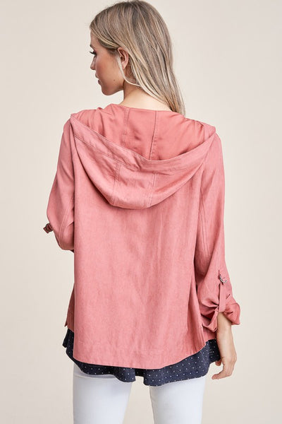 Terracotta Drawstring Waist Jacket
