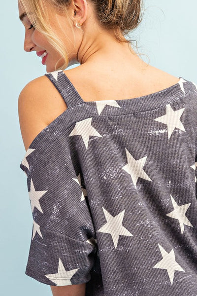 Making Stars Shine One Shoulder Top