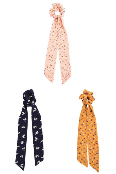 Print Mix Scrunchie Scarfs- 3 Colors!