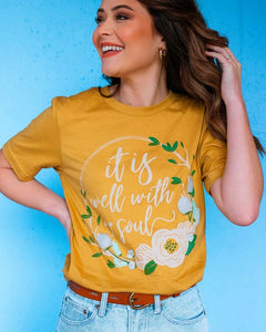 It Is Well Floral Graphic Tee