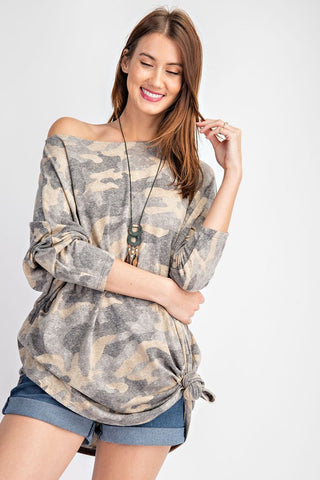 The Casey Camo Slouchy Fit Top