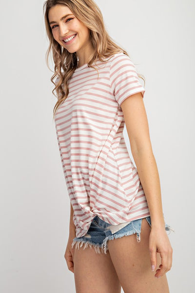 Blair's Favorite Striped Blush Tee