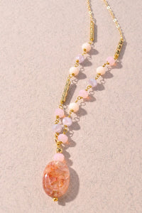 Sunset Gem Stone Necklace